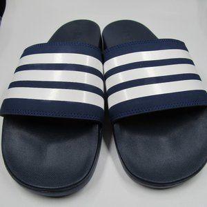 Adidas Men's Navy Slides Size 9 Adilette Comfort